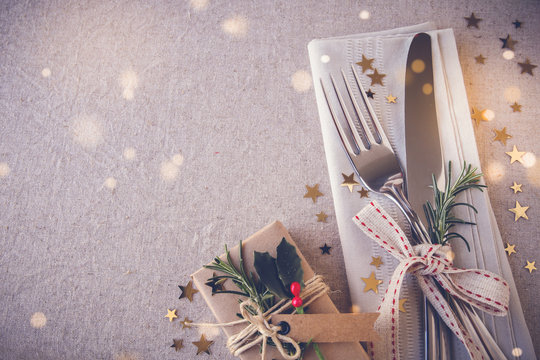 New Year eve 2021, Christmas food menu, holiday breakfast, lunch , dinner table place setting, festive background