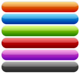 Set of buttons or banners with rounded corners