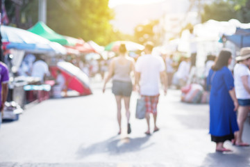 Blurred image of street market