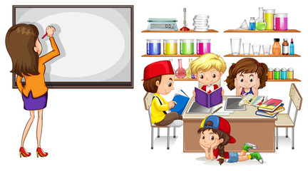 Teacher and children in the classroom
