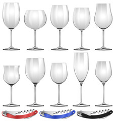 Wine glasses and can openers