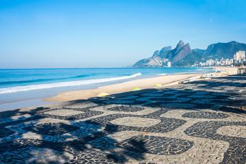 Early morning on the Ipanema beach, Rio de Janeiro, Brazil Wall mural