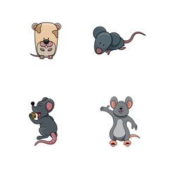 mouse illustration design collection