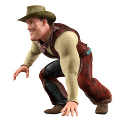 cowboy running