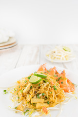 Asian Rice Noodle with Shrimp, PAD THAI