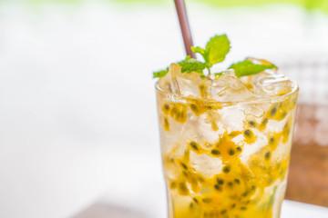 passion fruit soda mint