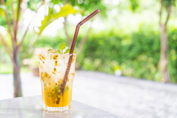passion fruit soda mint