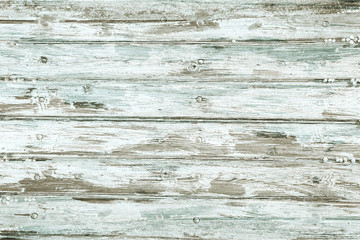 Old wooden planks with cracked color Paint