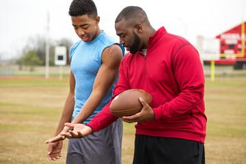 Football training.