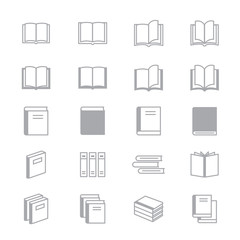 Book Icons Line Set Of Vector Design Illustration