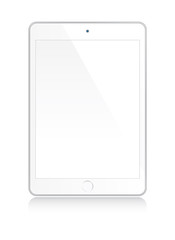 White tablet mock up
