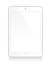 White tablet mock up
