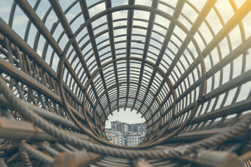 Rebar cage perspective 2