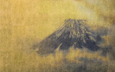 和風背景素材 富士山頂図