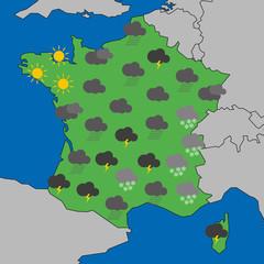 Carte météo Bretagne - Humour