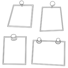 vector set of pinned photo