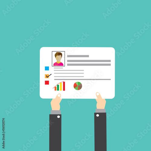 cv resume employee recruitment data paper work send, User design ...