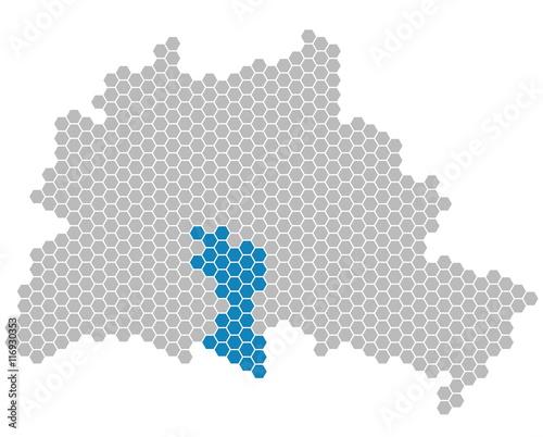 Karte Berlin Lichtenrade.Karte Berlin Bezirk Tempelhof Schoneberg Stockfotos Und