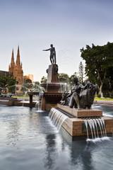 Sy HP Fountain Mary Vert sunset