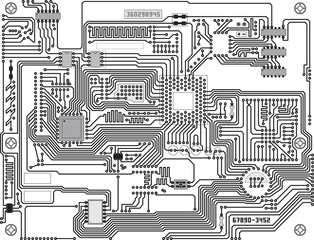 Vector circuitry - industrial high-tech background