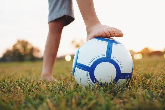Barefoot soccer game
