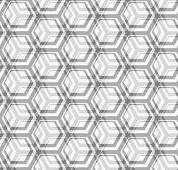 Seamless vector texture - gray hexagons