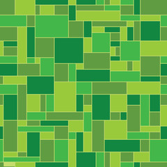 Green abstract geometric vector pattern