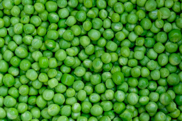 Fresh green peas background