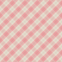 Square seamless pattern vintage pink plaid vector background.