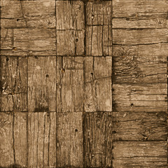 Old parquet floor background - vector realistic grunge element f