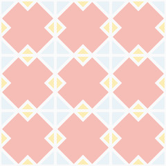Seamless, Tessellate Pattern of Geometric Shapes in Three Colors