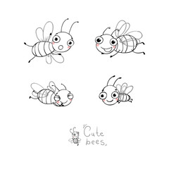 Cute cartoon bees.