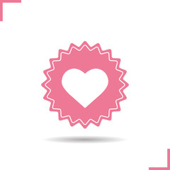 Heart pink color icon