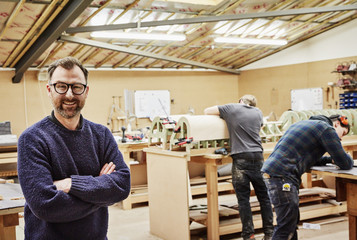 A furniture workshop making bespoke contemporary furniture pieces using traditional skills in modern design.