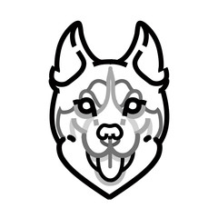 Husky head vector symbol on white background