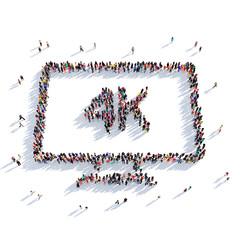 TV 4k cinema people 3D rendering