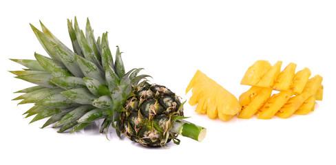 Small pineapple (Phu Lae Rai) on white background