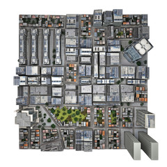 City top view. isolated part