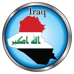 Iraq Round Button