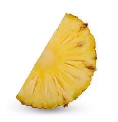 Pineapple slices isolate on white background.