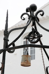Well, Monte Toro monastery courtyard, Minorca, Balearic islands,