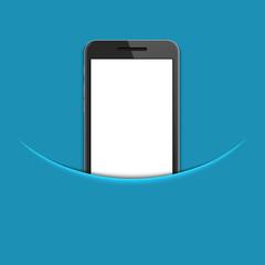 Vector modern smartphone on blue background