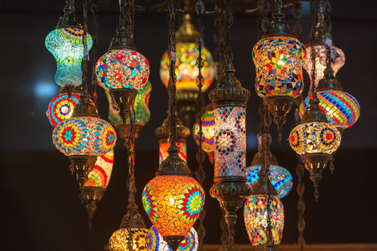 Colorful Moroccan style lanterns