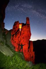 Night Cliffs Black Mountain