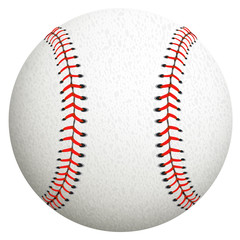 Baseball isolated on white. Vector illustration.
