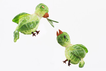 Brussels Sprouts Birdies.