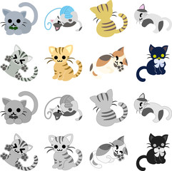 The icons of pretty cats
