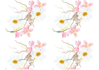 pattern flowers. colorful design for pattern .wall paper. background fashion design