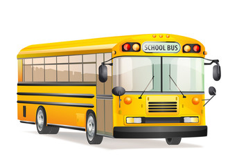 vector school bus isolated on white
