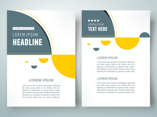 flyer brochure design template geometric abstract sphere